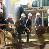 Rep. Welch at the groundbreaking for Otter Creek's new brewing facility