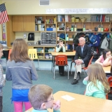 Rep. Welch listens to students at a Vermont elementary school