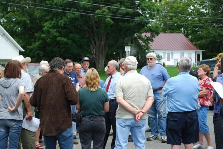 Welch listens to Vermonters at a Congress in Your Community event in Derby.
