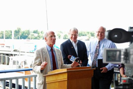 Welch announces funding for the Northern Border Regional Commission in Newport.