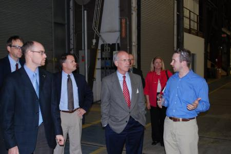 Welch tours Northern Power Systems in Barre.