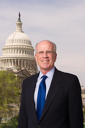 Congressman Peter Welch with the U.S. Capitol in the background