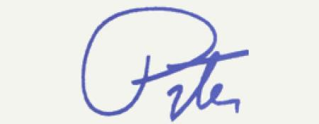 Congressman Peter Welch signature